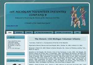 15th Michigan Infantry History