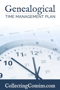 My Genealogy Time Management Plan