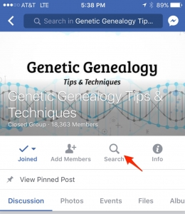 Search Facebook Group for Mobile
