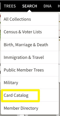Improving Your Searches with Collections at Ancestry and