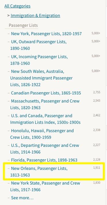 Filter Results at Ancestry.com