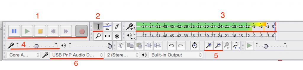 Audacity Toolbars