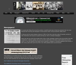 AncestorHunt historical newspaper listing