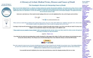 Archaic Medical Terms