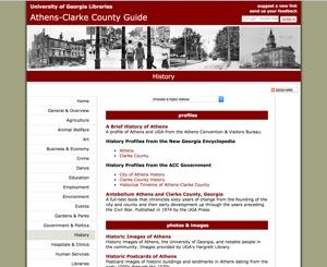 Athens/Clarke County, Georgia history