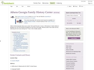 Athens Georgia Family History Center