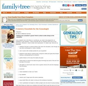 Cemetery Essentials for the Genealogist