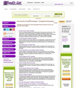 Evernote Templates for Genealogy