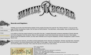 Records & Registers Artwork for Genealogy
