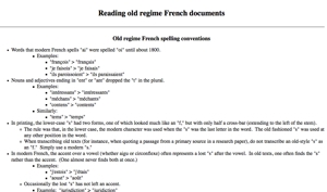 Old Regime French Abbreviations