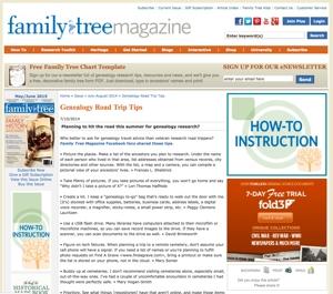 Genealogy Road Trip Tips