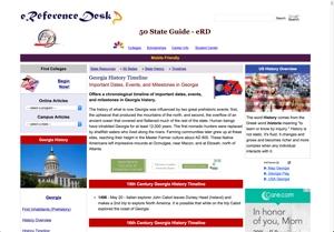 Timeline of Georgia History