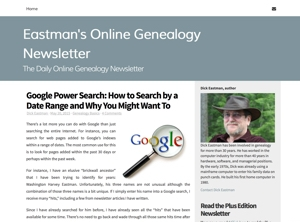 Filter Search Results for Genealogy Searches