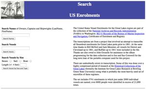 Great Lakes US Vessel Enrolment Transcriptions