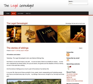 The Legal Genealogist