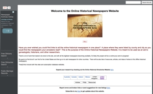 Online Historical Newspapers Site