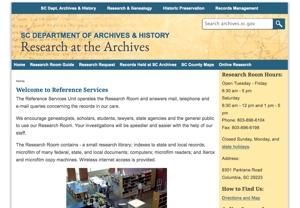South Carolina State Archives