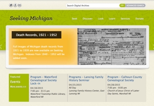 Seeking Michigan - the online platform for the Michigan Historical Center