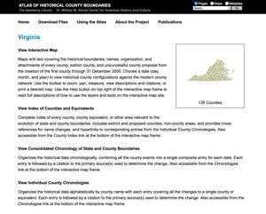 Virginia Historical County Boundaries